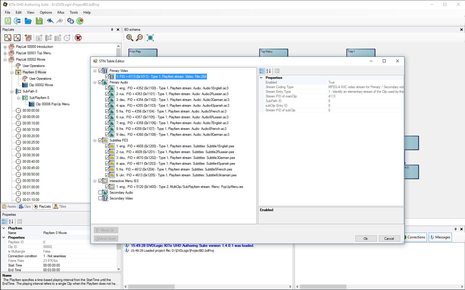 STN Table Editor
